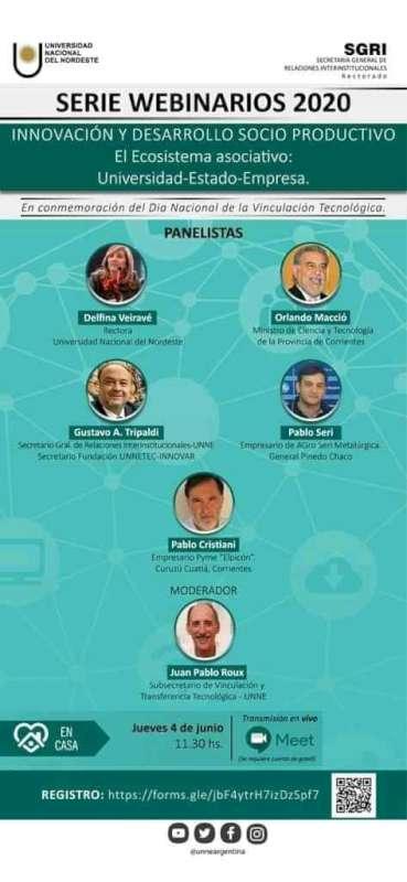 La UNNE organiza un nuevo webinar sobre Innovación y Desarrollo Socio Productivo