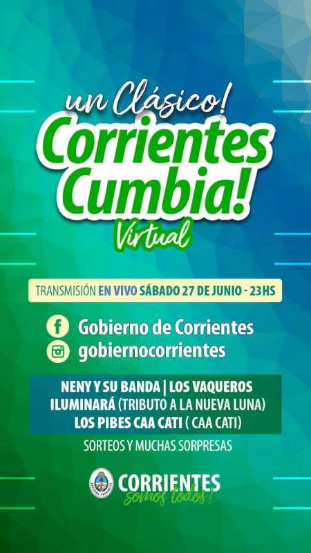 Corrientes Cumbia Virtual ofrecerá mañana una nueva instancia de bagaje musical y entretenimiento para todas las familias