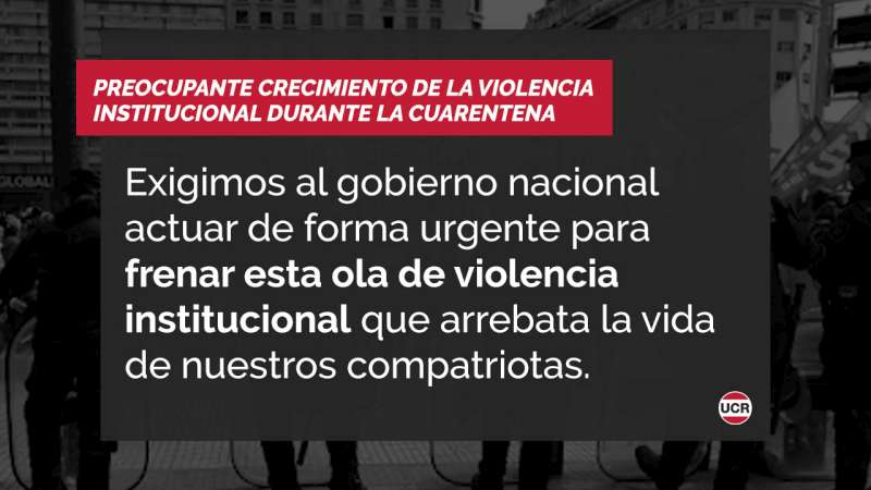 Preocupante crecimiento de la violencia institucional durante la cuarentena