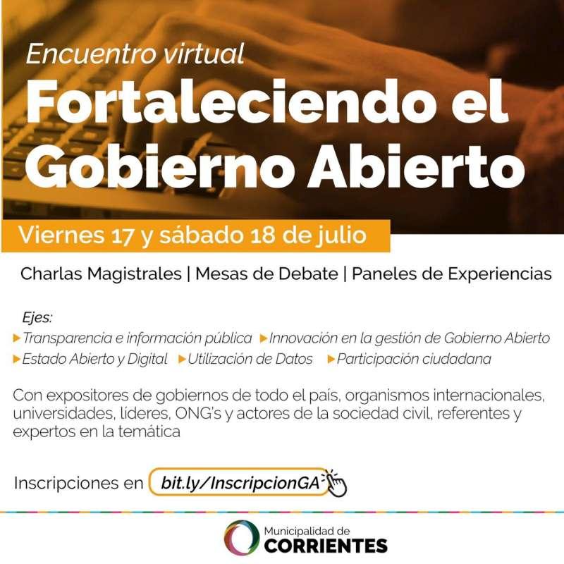 """Con charlas y debates, la Municipalidad pone en marcha """"Fortaleciendo el Gobierno Abierto"""""""