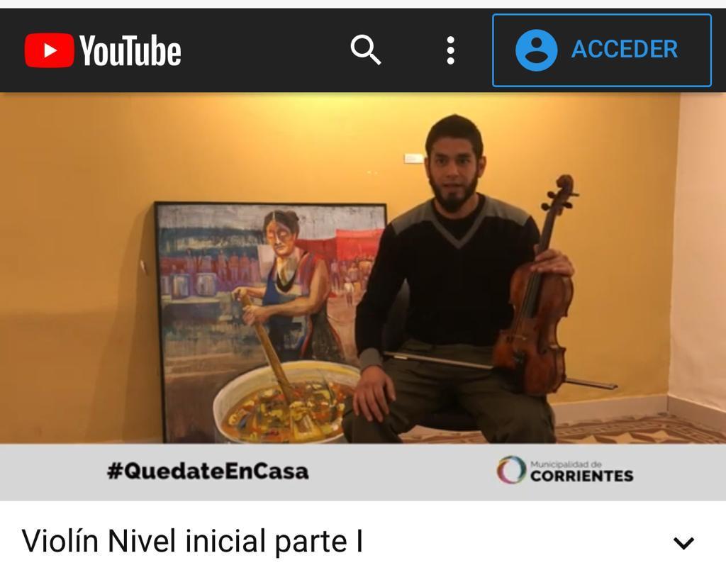 El Municipio brinda clases gratuitas de violín en forma online