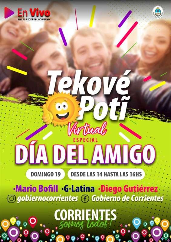 Un nuevo sábado del Corrientes Cumbia virtual y el domingo con el especial por el día del amigo del Tekové Poti