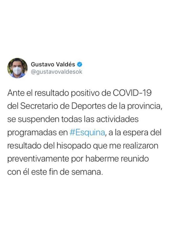 Valdés anunció el cronograma de los sueldos de agosto para trabajadores provinciales