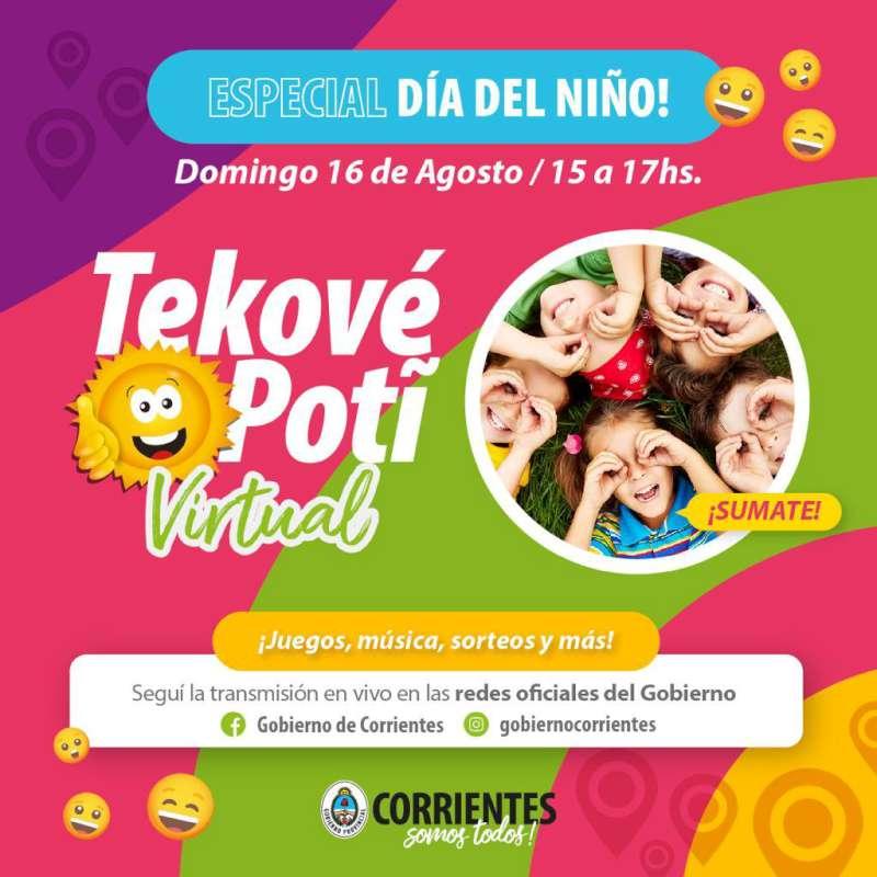 El Tekové Potí Virtual agasajará a los niños en su día