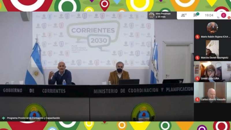 Los ministros Anselmo y Schiavi iniciaron el ciclo de charlas de cara al PEP 2030 para Corrientes