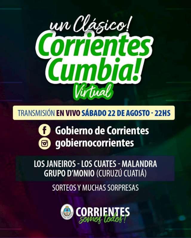 Una nueva noche de música y sorteos en el Corrientes Cumbia