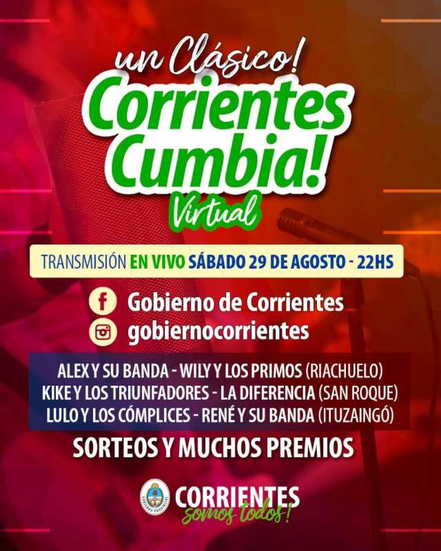 Corrientes Cumbia Virtual: Otra noche de premios y sorteos con la mejor música tropical