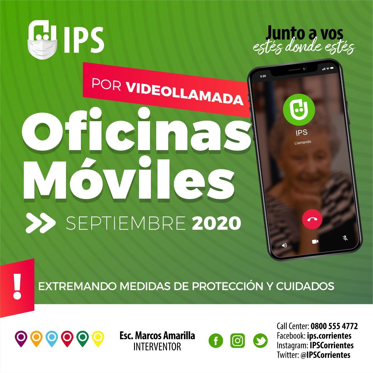 IPS instrumenta videollamadas para sus Oficinas Móviles