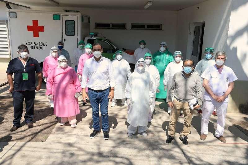 Valdés constata en el terreno la situación sanitaria del interior provincial por la pandemia
