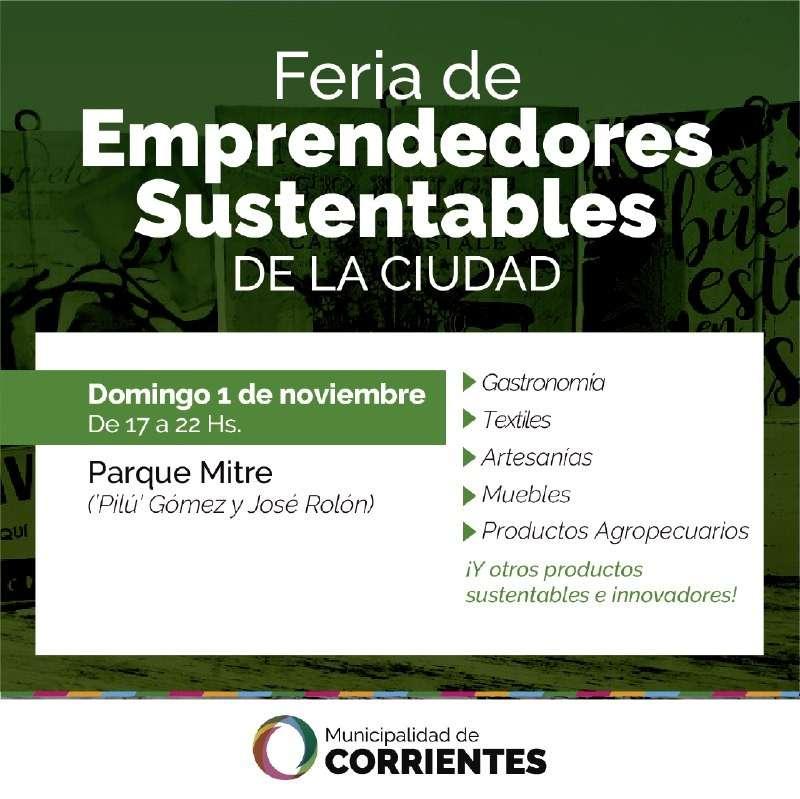 La Municipalidad pone en marcha la Feria de Emprendedores Sustentables de la Ciudad
