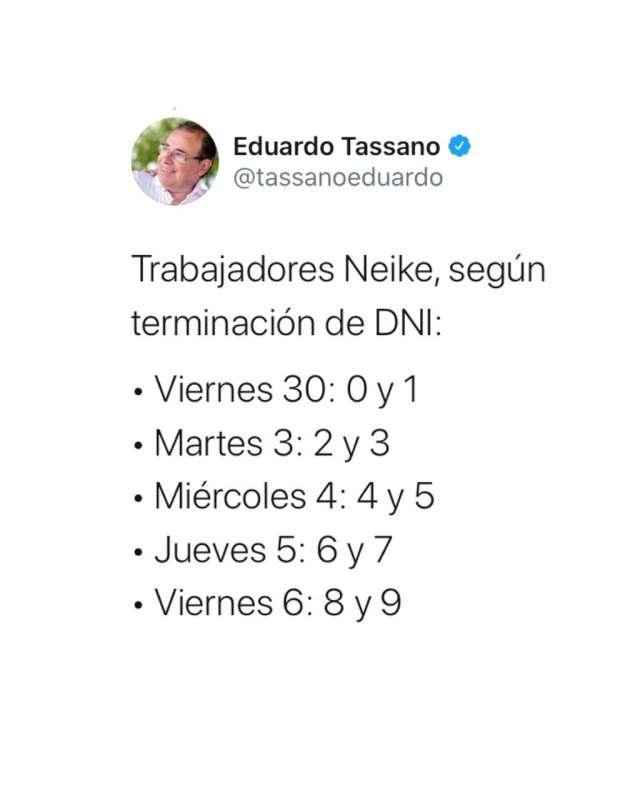 Tassano dio a conocer el cronograma de sueldos de octubre