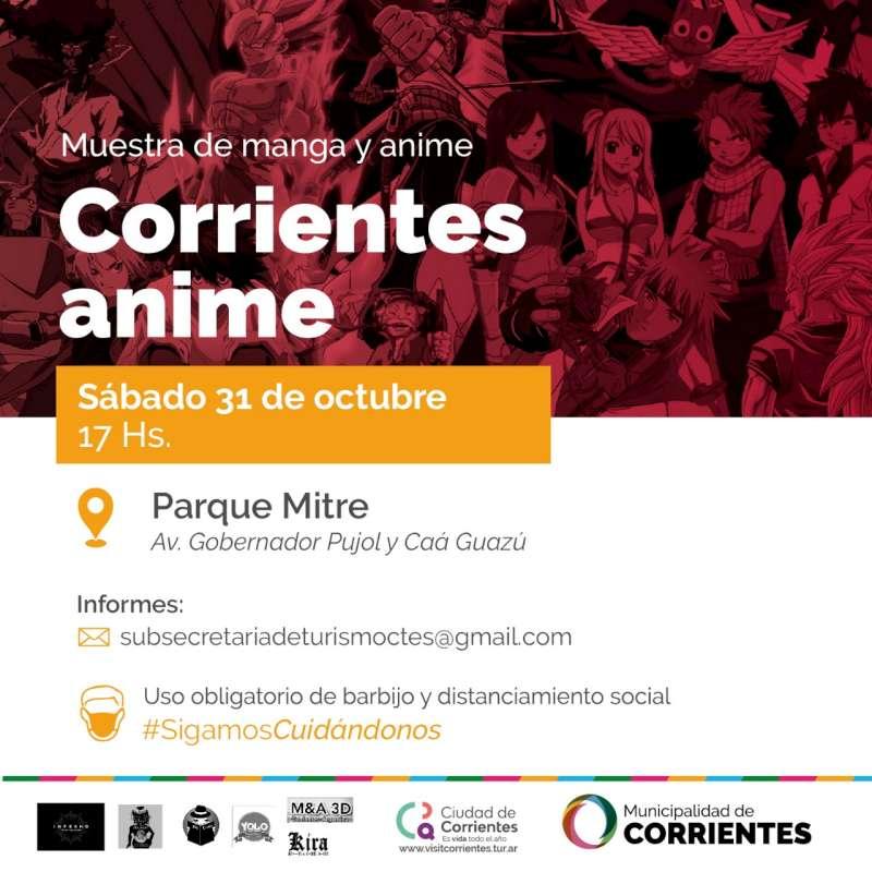En el Parque Mitre se realizará «Corrientes Anime»