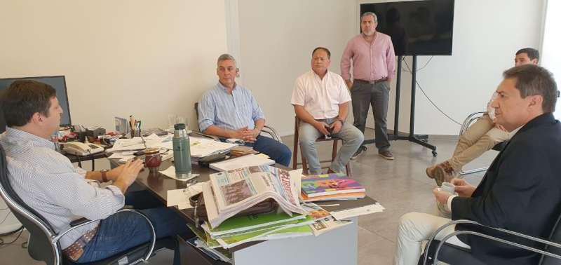 Schiavi expuso los avances del proyecto del parque industrial de Bella Vista