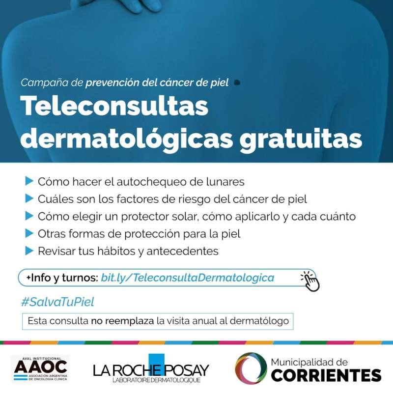 Consultas dermatológicas gratuitas para prevenir el cáncer de piel