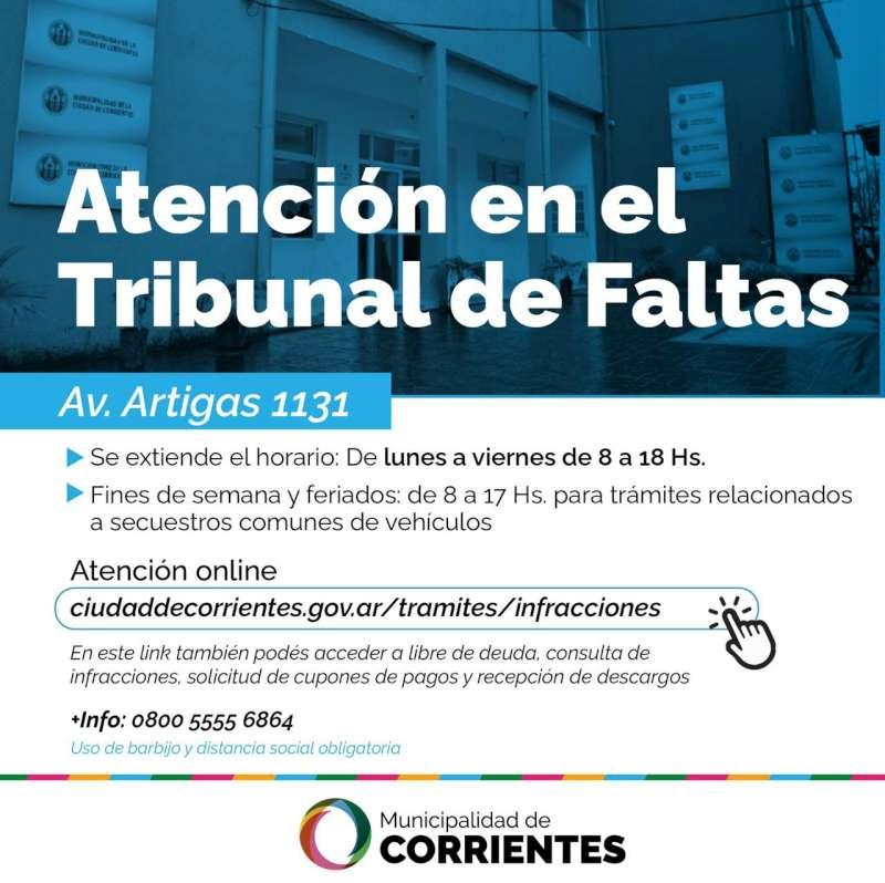 El Tribunal de Faltas atiende en horario corrido y con múltiples vías de comunicación