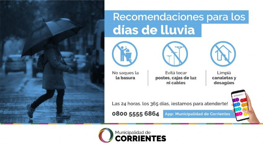 La Municipalidad activó su plan de acción ante la probabilidad de intensas lluvias