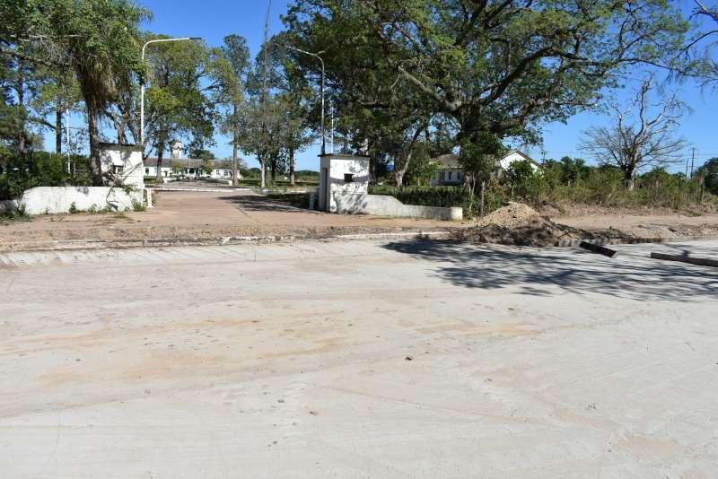 Con varios frentes de obra avanza la pavimentación de la avenida Santa Catalina