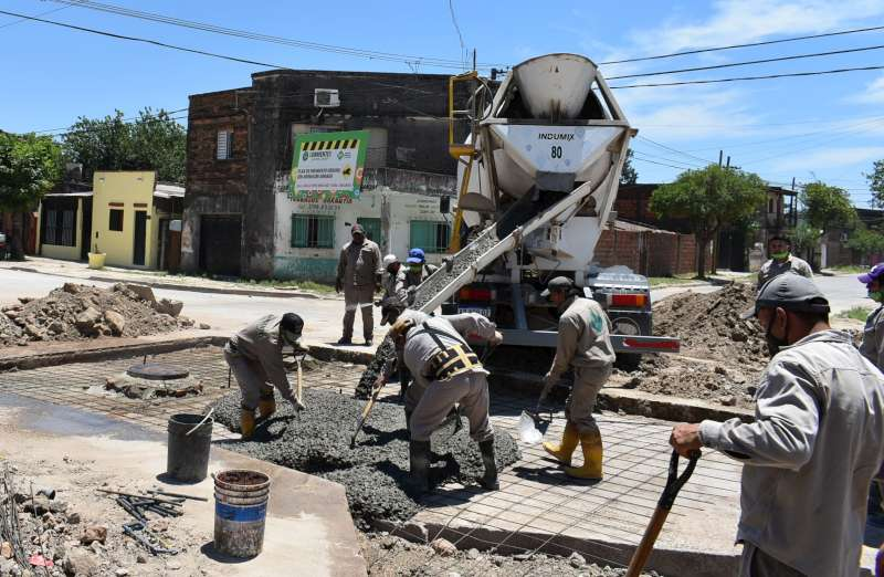 Está en plena ejecución la segunda etapa de pavimentación de la calle Lavalle