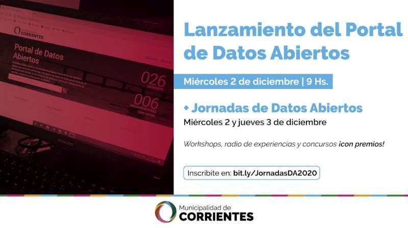 La Municipalidad de Corrientes presentará el Portal de Datos Abiertos