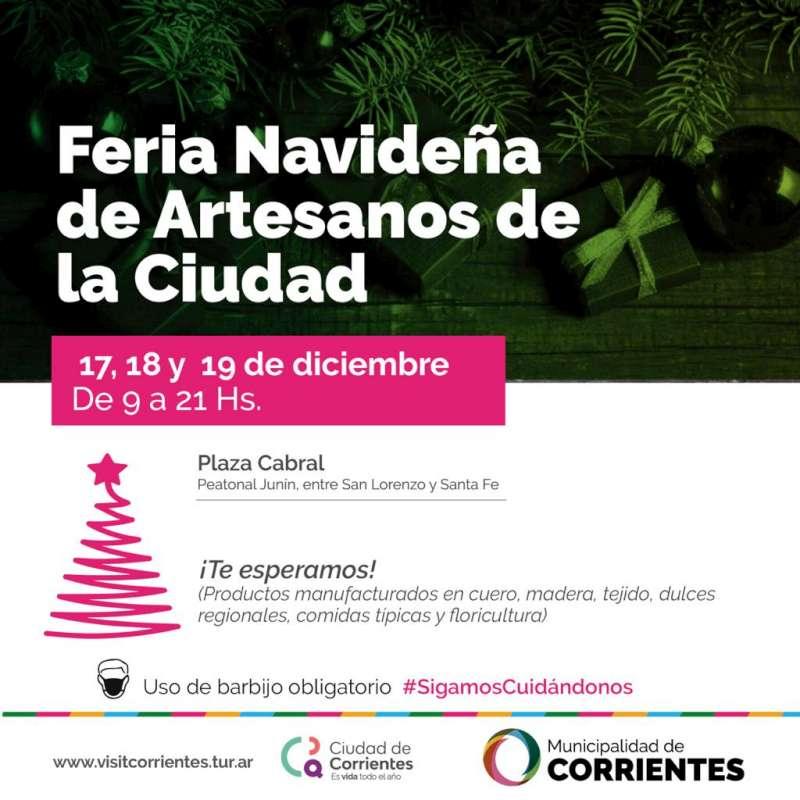 Por tres días consecutivos se realizará la Feria navideña de artesanos de la ciudad