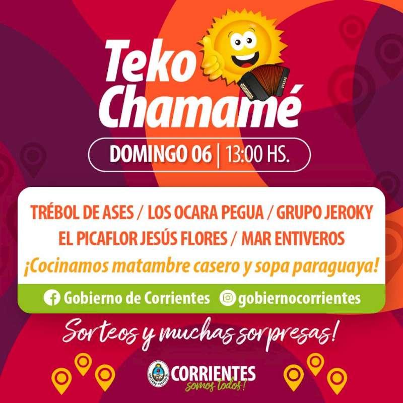 Otro fin de semana a pleno con Corrientes Cumbia Virtual y Teko Chamamé