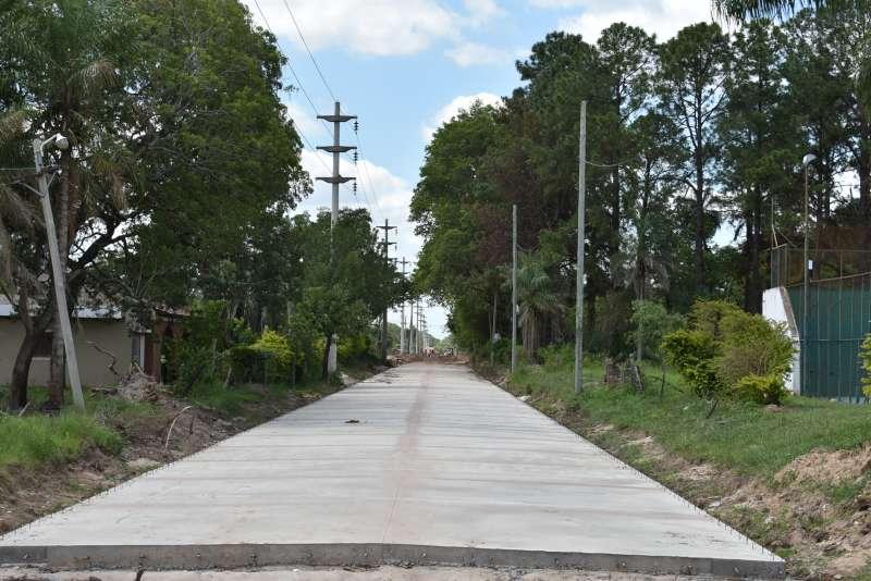 La pavimentación de la avenida Santa Catalina tiene un avance de obra del 40%