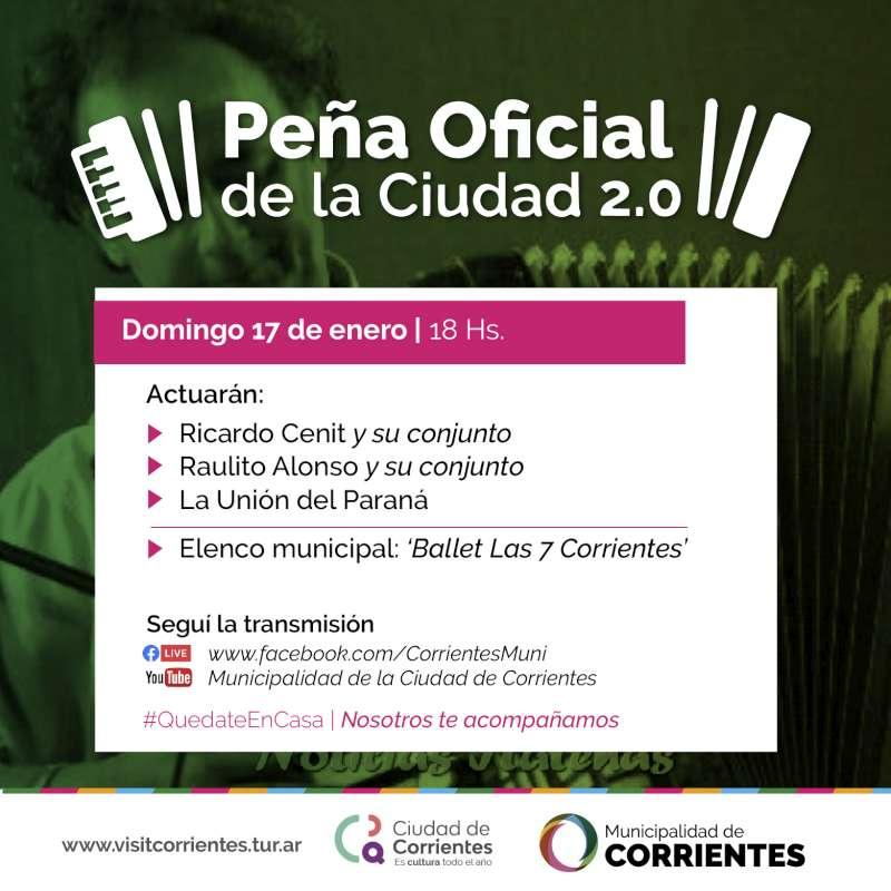 La Municipalidad invita a vivir otro domingo de folklore a través de la Peña Oficial 2.0