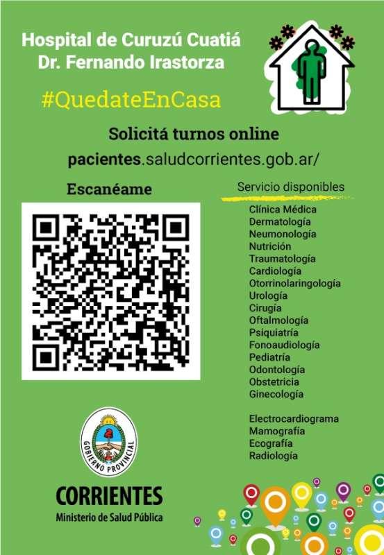Salud Pública habilita turnos web en el Hospital de Curuzú Cuatiá