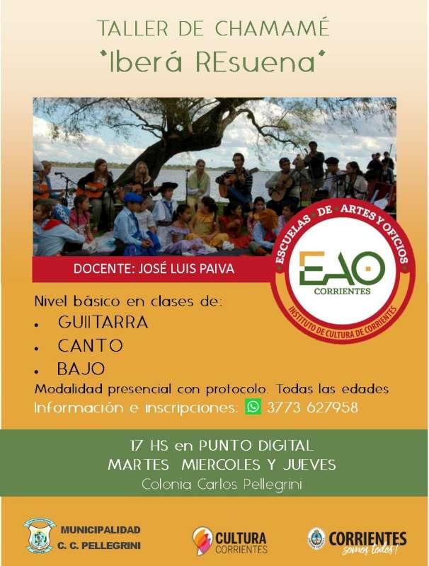 Se dictará el taller de chamamé «Iberá Resuena» en Colonia Carlos Pellegrini