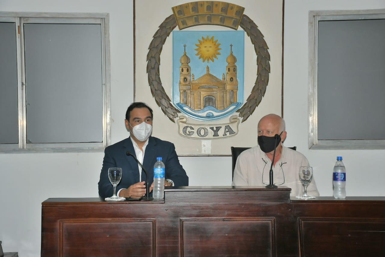 """Valdés con Osella: """"Estamos transitando juntos el camino de mejorar a Goya"""""""