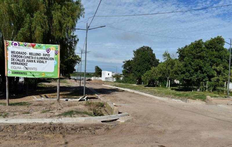 La Provincia construye un nuevo acceso permanente al río Corriente