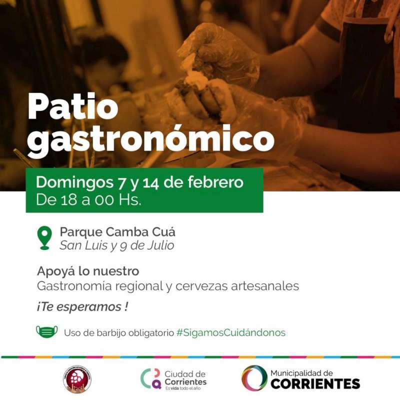 Este domingo se realizará en el Camba Cuá el primer Patio Gastronómico del año