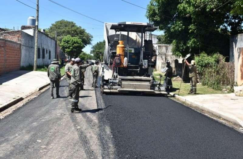 La Provincia pavimentó más de 35 cuadras en el barrio Bañado Norte