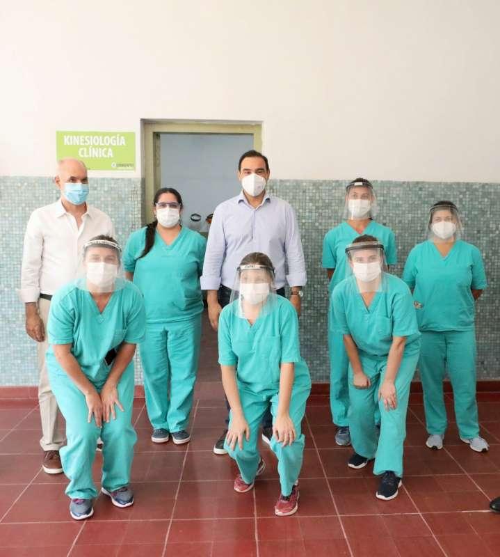 Valdés recorrió con Rodríguez Larreta el Hospital de Campaña, la nueva cárcel en San Cayetano y la Autovía de RP 5