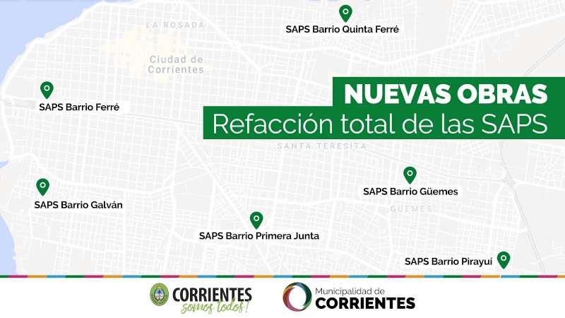Tassano anunció la refacción integral de 6 SAPS de la ciudad