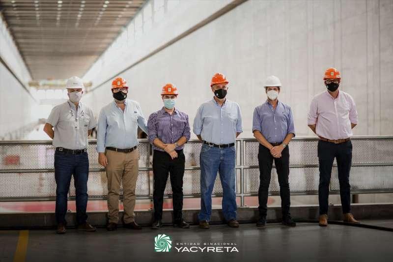 Autoridades de Yacyretá recorrieron la Central Hidroeléctrica y las obras de Añá Cuá