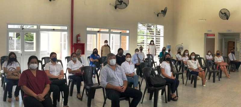 Salud capacitó a directivos de escuelas de San Luis del Palmar sobre protocolo sanitario de regreso a clases
