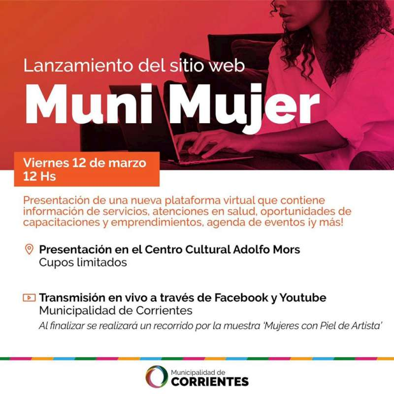 La Municipalidad presenta la plataforma Muni Mujer
