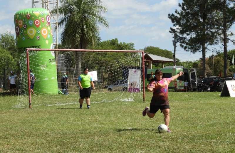 Encuentro de Fútbol Femenino en el barrio Laguna Soto