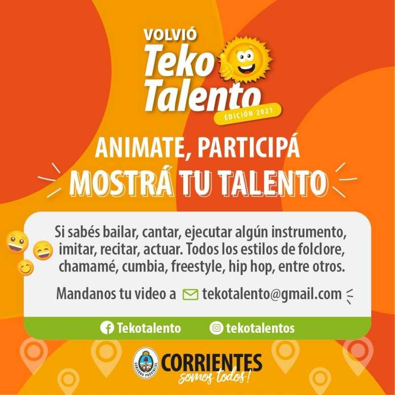 El Teko Talento 2021 te invita a mostrar tu aptitud en la música, el baile y el canto