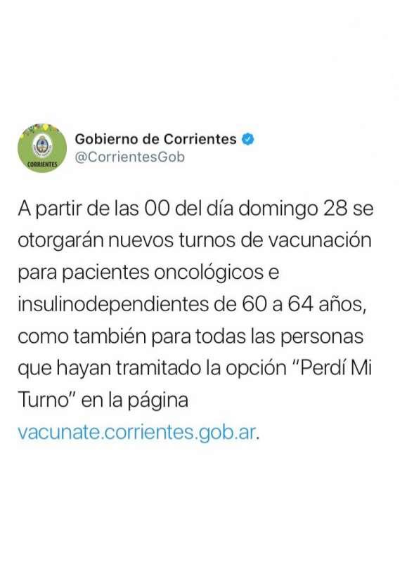 Por diferimiento de la segunda dosis, las personas ya vacunadas contra el Coronavirus deberán esperar