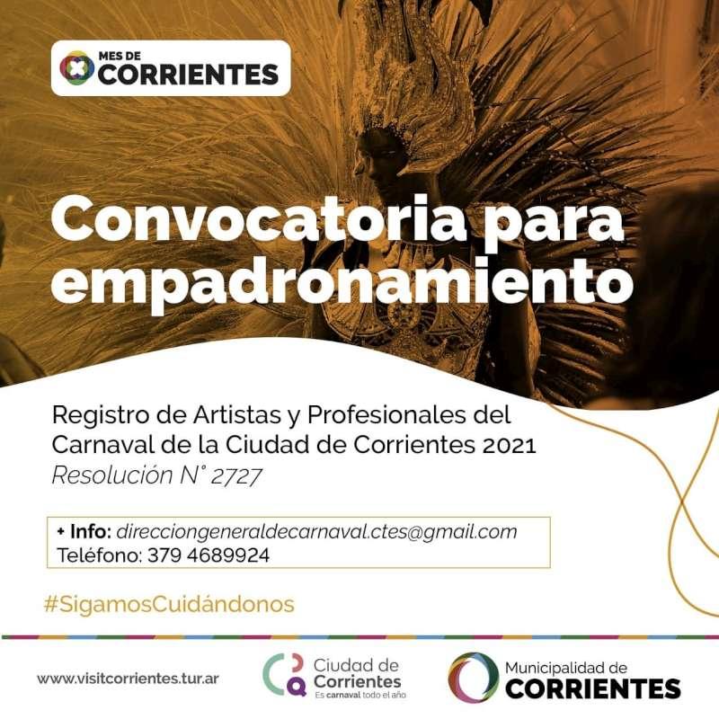 Convocatoria para empadronamiento de artistas y artesanos del carnaval