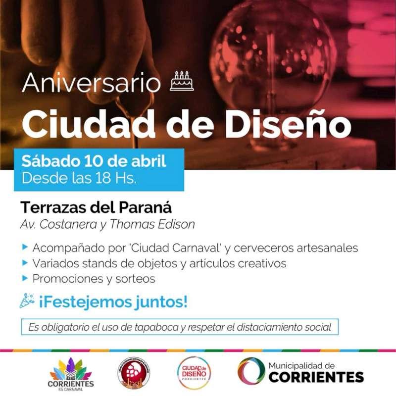 Ciudad de Diseño cumple años y lo celebra en las Terrazas del Paraná