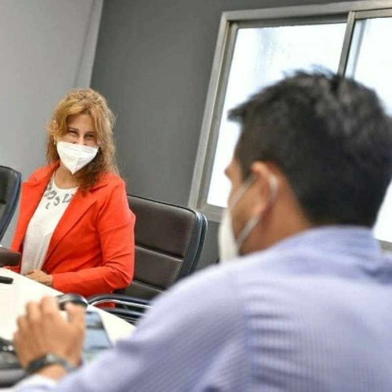 La presidenta del Consejo Provincial de la Mujer se reunió con el subsecretario de la SUSTI