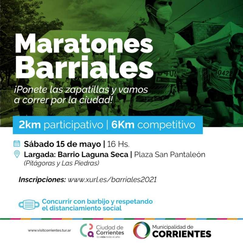 Las Maratones barriales llegan al barrio Laguna Seca con estrictos protocolos