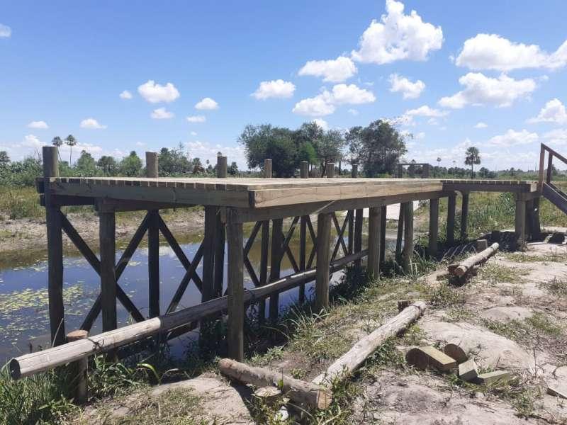 Concluyó la construcción de la bajada de lancha y camping  en Paso Aguirre