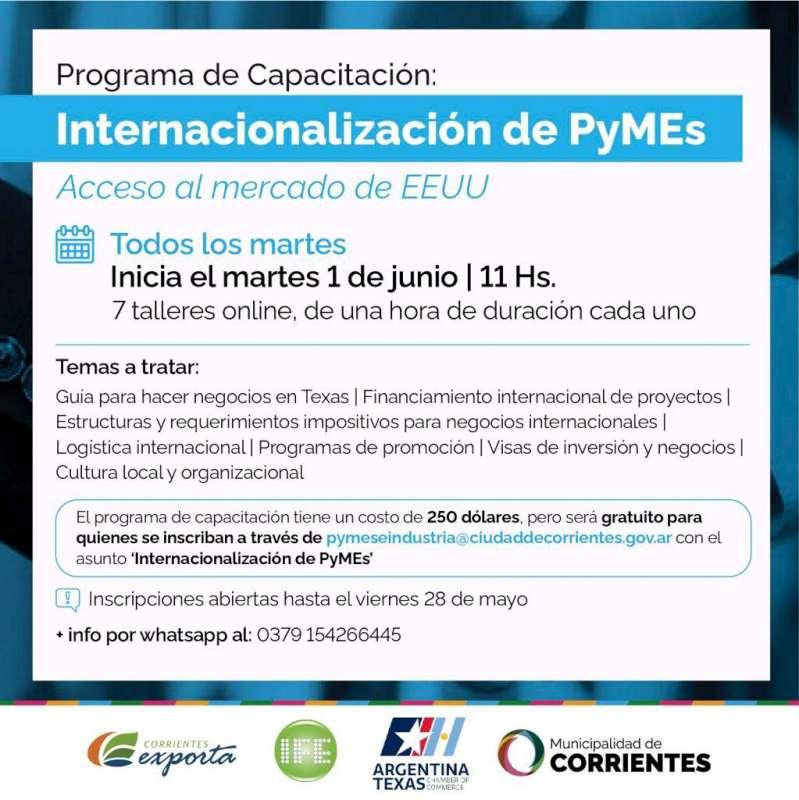 La Cámara de Comercio Argentina-Texas en conjunto con el municipio brindarán capacitación gratuita para comerciantes