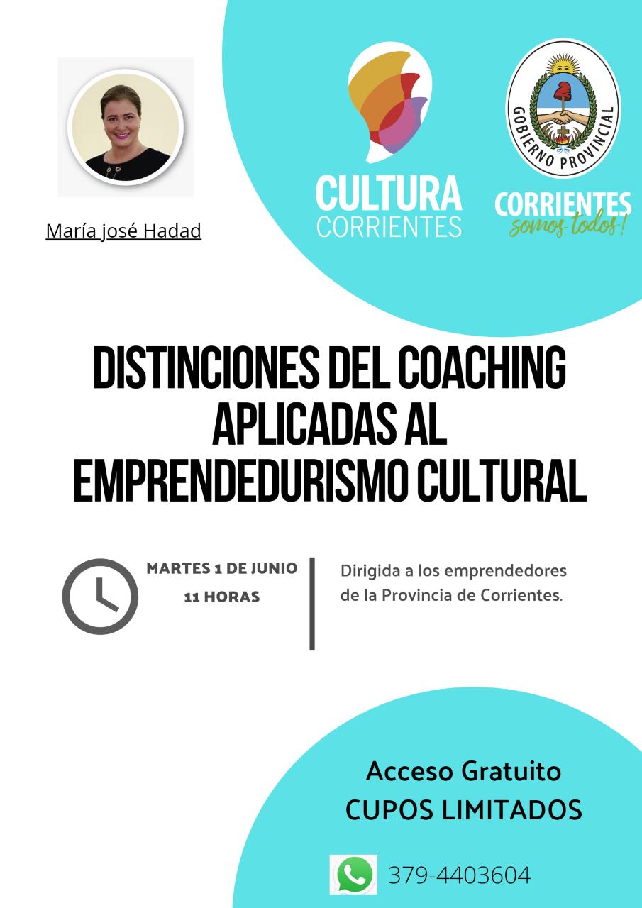 Distinciones del Coaching aplicadas al emprendedurismo cultural