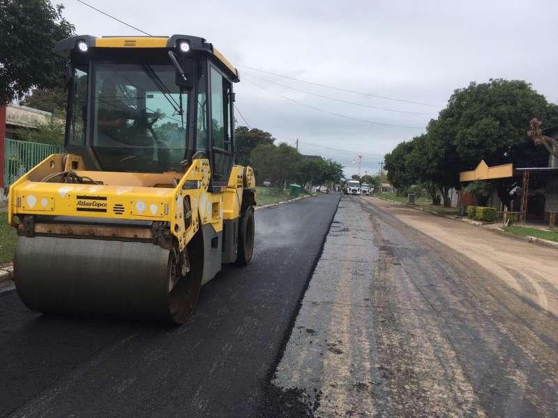 El Gobierno Provincial comenzó la repavimentación de varias calles de Itatí