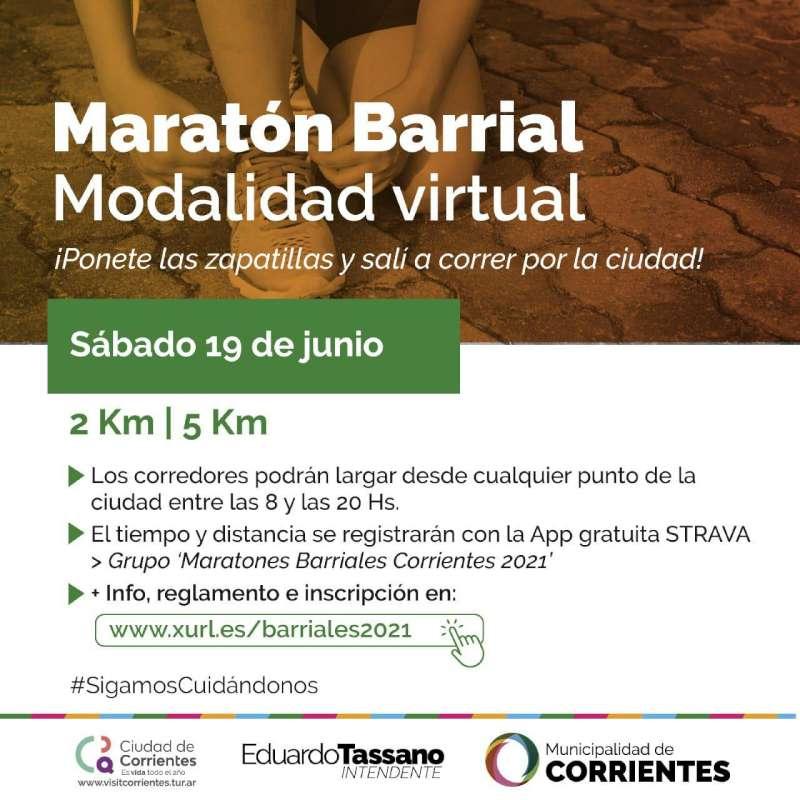 Las Maratones Barriales se correrán en modalidad virtual a través de una app